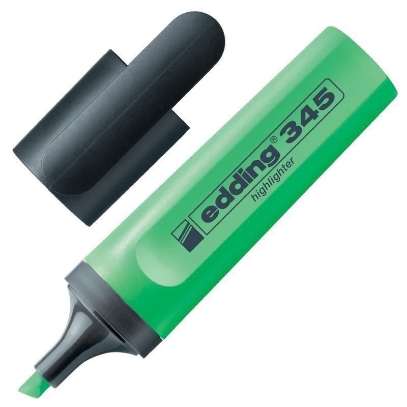 Текстмаркер Edding 1-5мм скошенный наконечник зеленый
