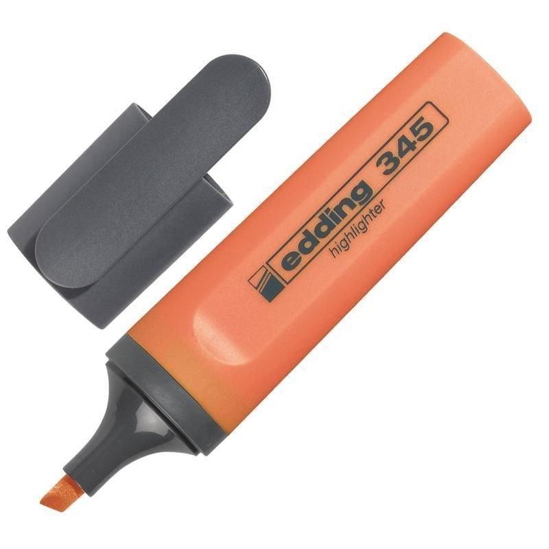 Текстмаркер Edding 1-5мм скошенный наконечник оранжевый