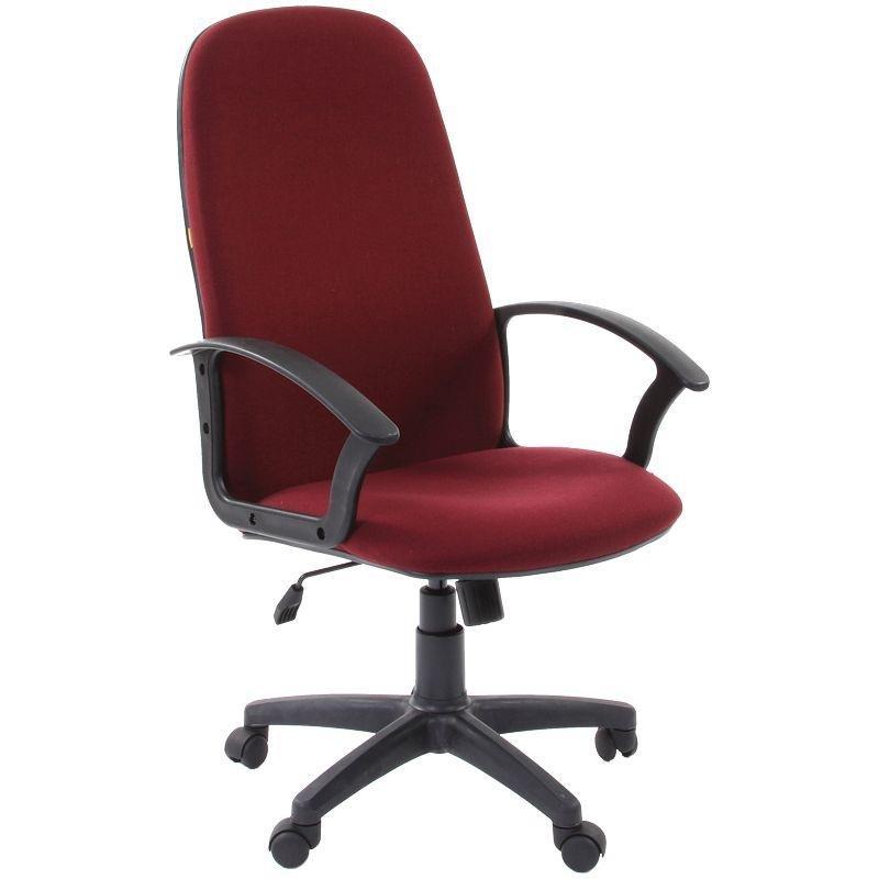 Кресло руководителя Chairman 289NEW PL с подлокотниками ткань бордовое