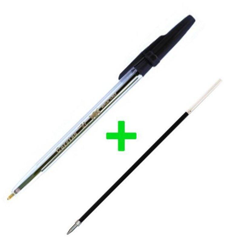 Ручка шариковая Corvina-Universal 0,7мм черная + Стержень шариковый Corvina 1,00мм черный 152мм