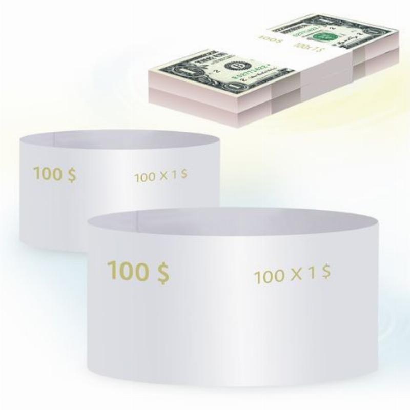Кольцо бандерольное 1 доллар 500шт/уп