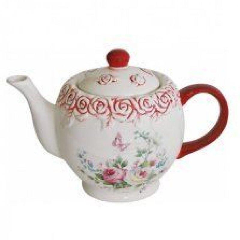 Чайник заварочный 1100мл Розы керамика