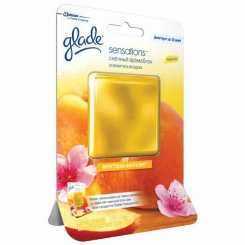 Освежитель воздуха Glade 8гр Sensations сменный аромаблок Фруктовая фантазия