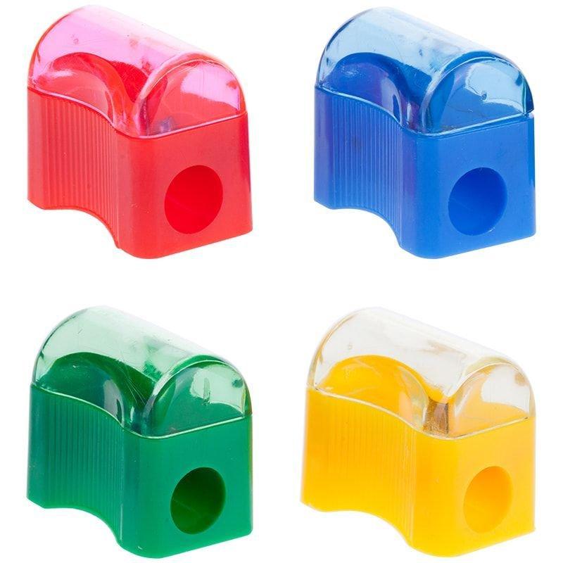 Точилка 1 отверстие ArtSpace Сундучок с контейнером пластиковая ассорти