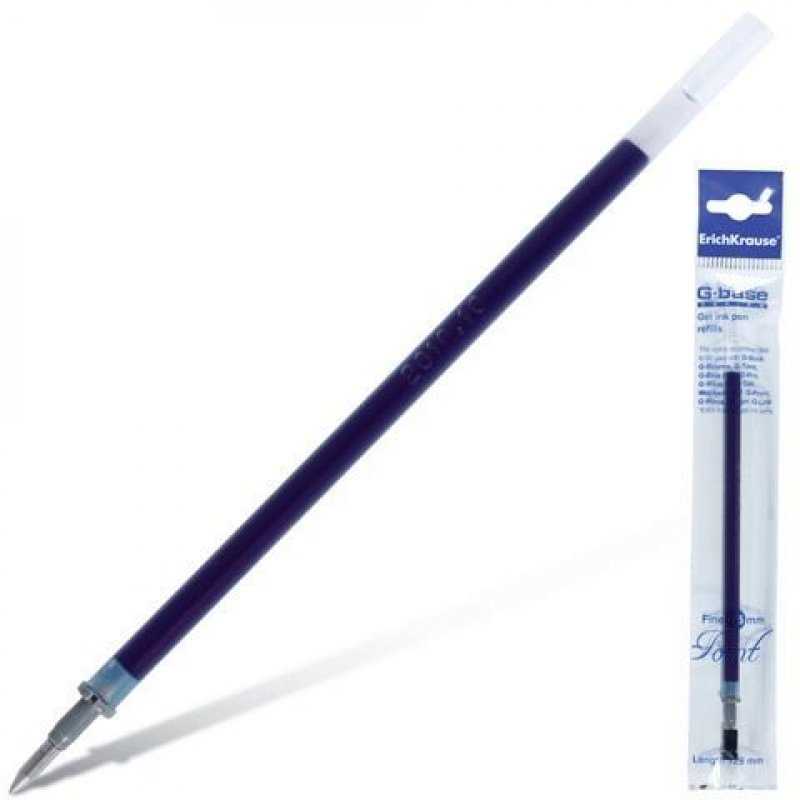 Стержень гелевый 129мм Erich Krause G-Base 0.5мм синий