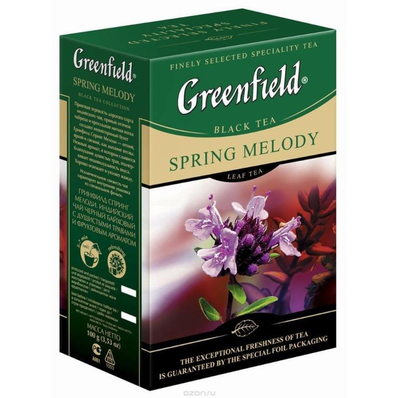 Чай Greenfield Spring Melody 100г листовой черный