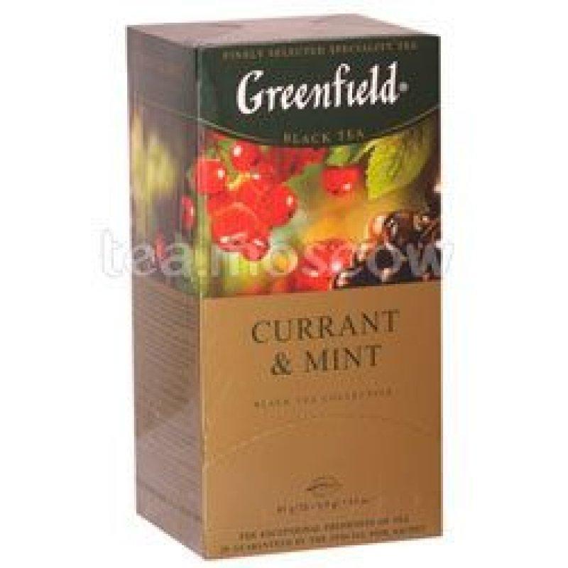 Чай Greenfield Currant and Mint 25шт в пакетиках черный с мятой и смородиной