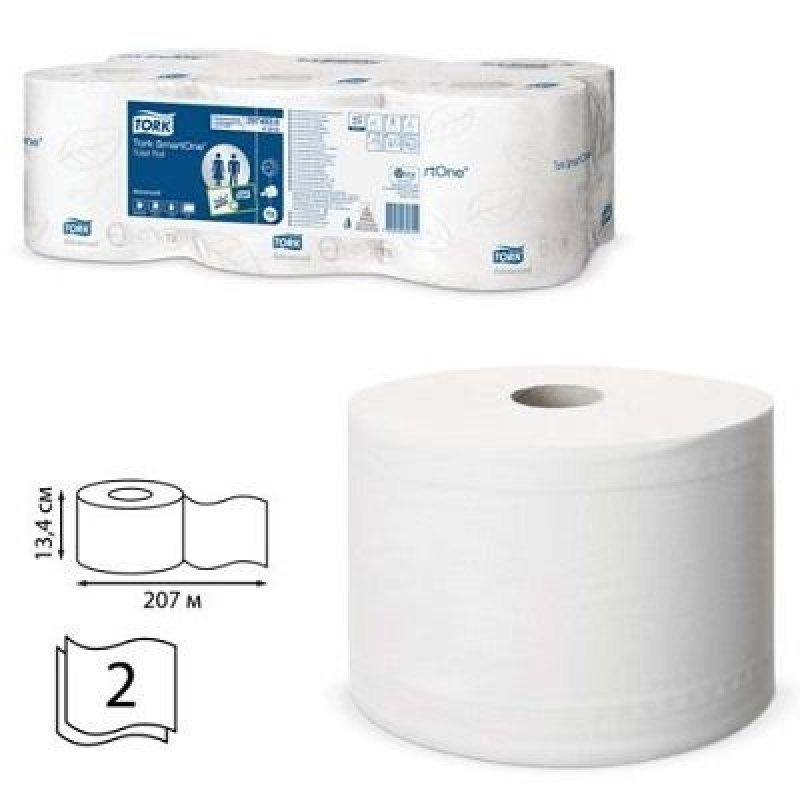 Бумага туалетная Tork SmartOne Advanced(Т8) 2-сл 207м белая тиснение