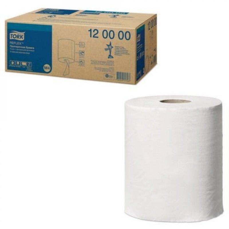 Полотенце/протирочная бумага в рулонах Tork Reflex (M4) 1-сл 270м белое