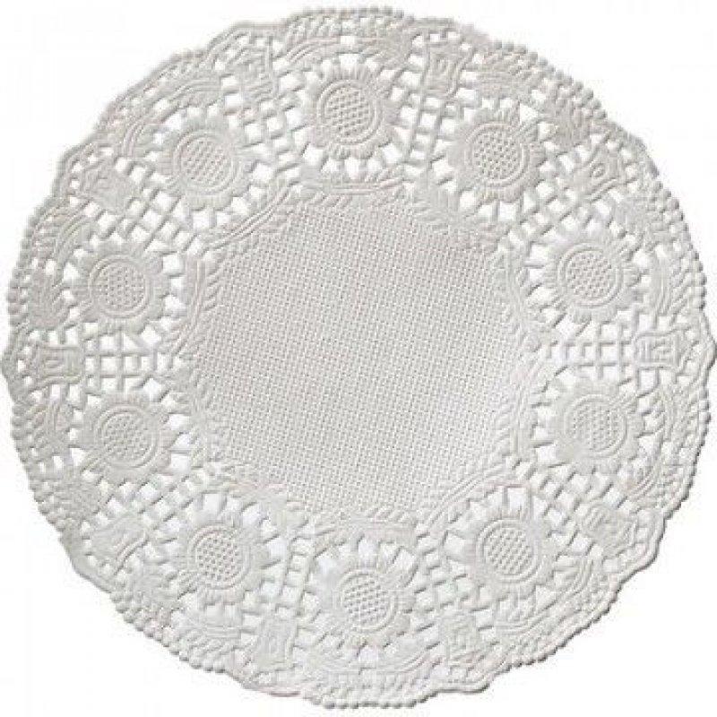 Салфетки 100л 1сл бумажная ажурная d-10см белые