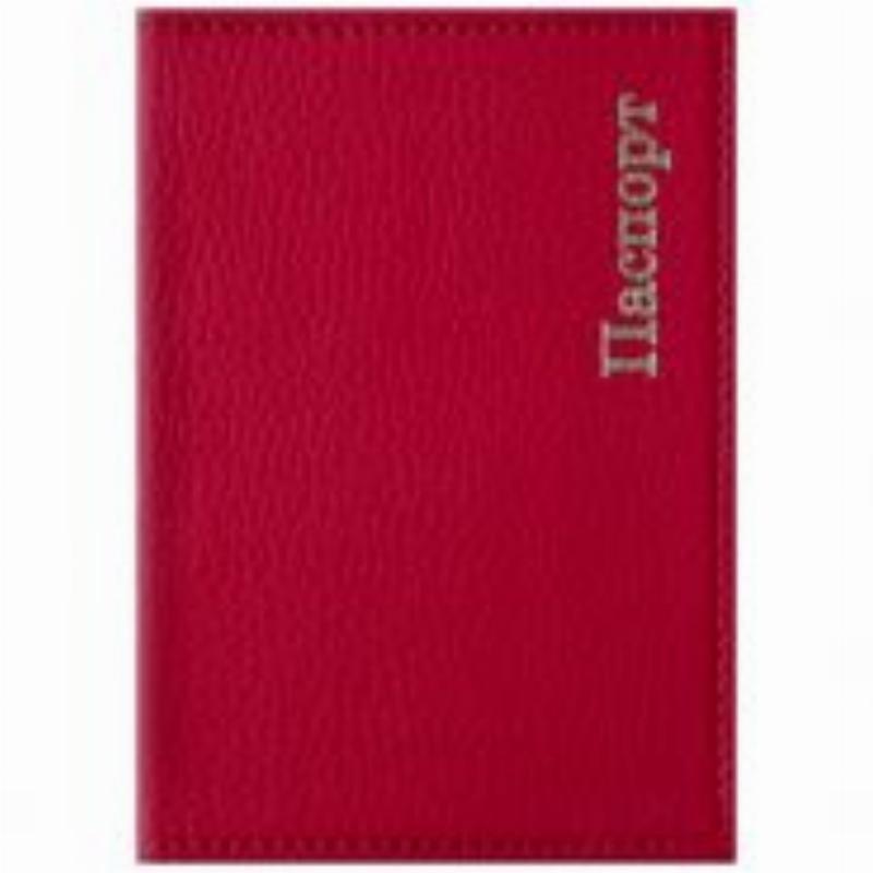 Обложка для паспорта OfficeSpace Комфорт кожзам красная