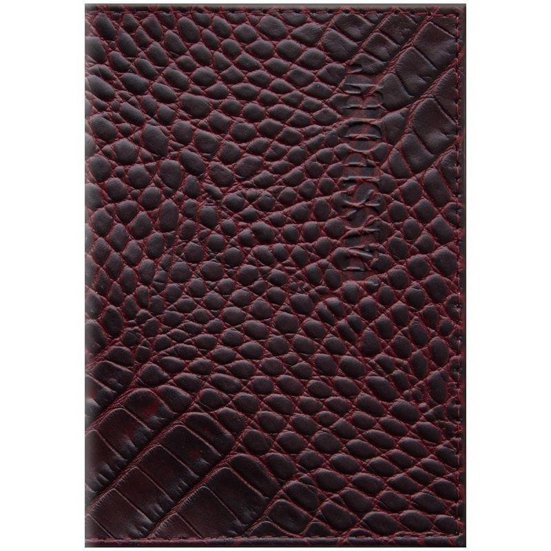 Обложка для паспорта OfficeSpace Сагат кожа рубиновая
