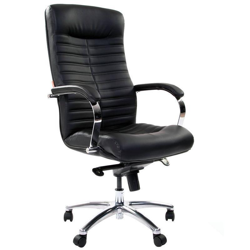 Кресло руководителя Chairman 480 CH с подлокотниками экокожа черное