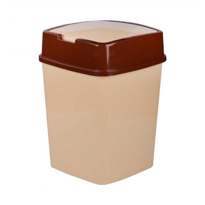 Контейнер для мусора 18л пластик бежевый