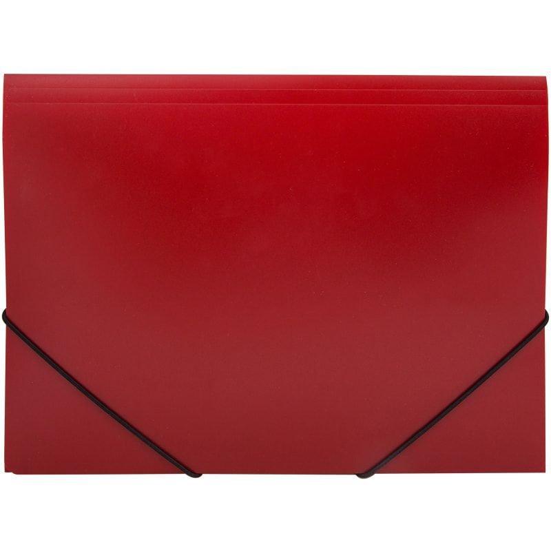 Папка на резинках OfficeSpace A4 0,5мм красная