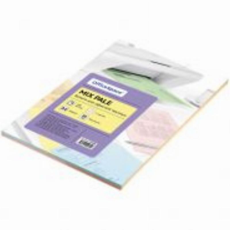 Бумага писчая А4 80г/м2 92 % 100л. 5 цветов пастель OfficeSpace pale mix