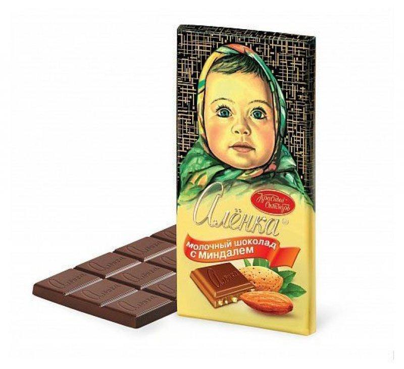 Шоколад Аленка 100г миндаль