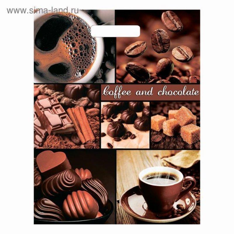 Пакет прорезн ручка 31х40см 60мкм Триумф Кофе и шоколад