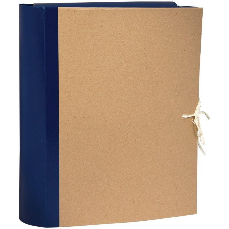 Папка архивная 80мм 4 завязки 700л крафт/бумвинил 310х228х80мм