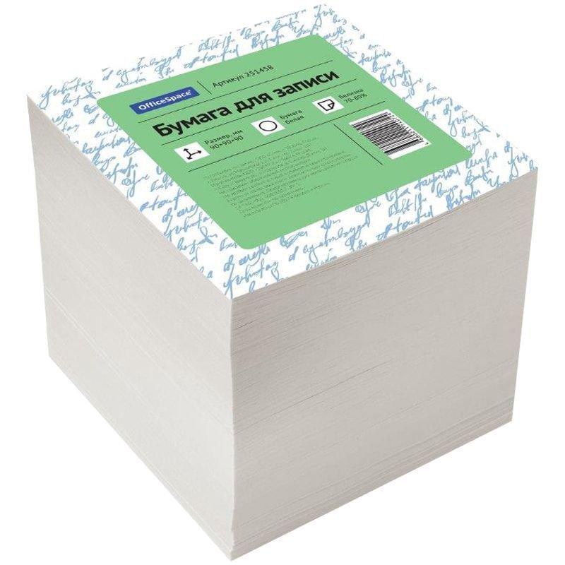Блок для записей 90х90х90мм OfficeSpace белый типографская бумага 75% запасной