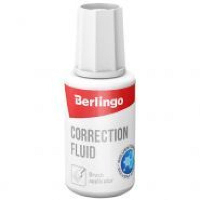 Корректирующая жидкость Berlingo 20мл на химической основе с кисточкой