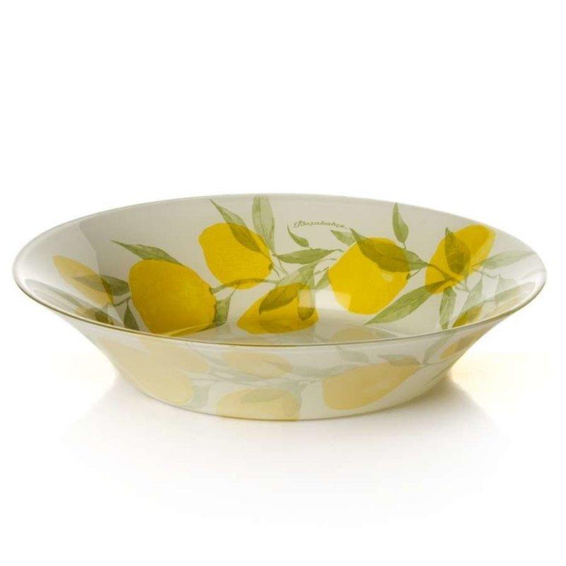 Тарелка 220мм Лимон глубокая стекло
