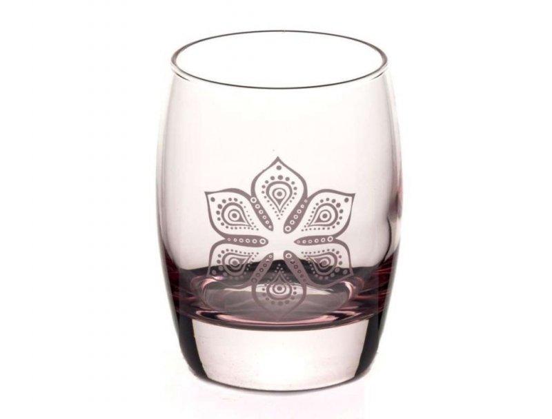 Стакан 350мл Бохо розовый стекло