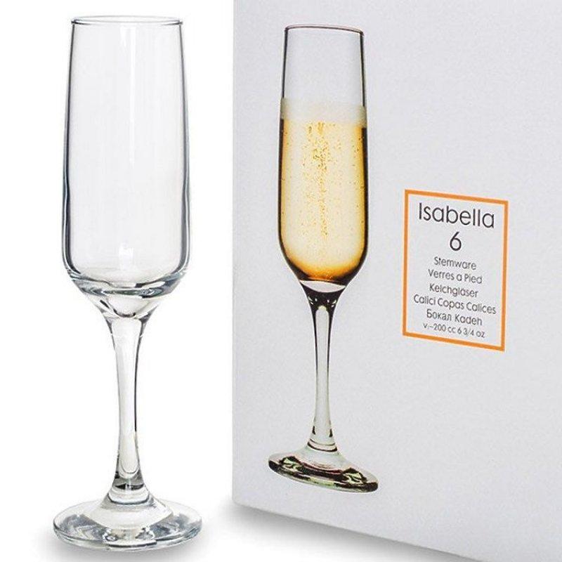 Бокал 200мл Изабелла 6шт для шампанского стекло