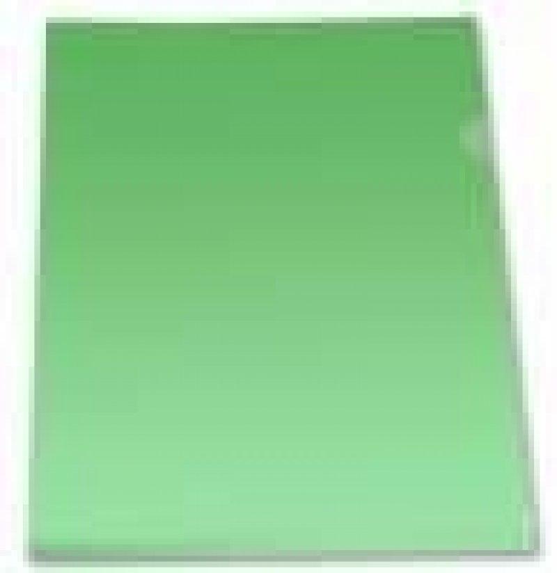 Папка-угол (карман) Бюрократ Economy 0,10мм прозрачная зеленая