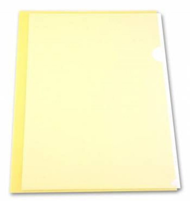Папка-угол (карман) Бюрократ Economy 0,10мм прозрачная желтая