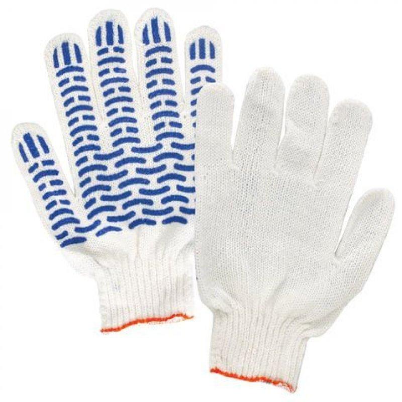 Перчатки х/б с ПВХ 5 ниток манжета волна