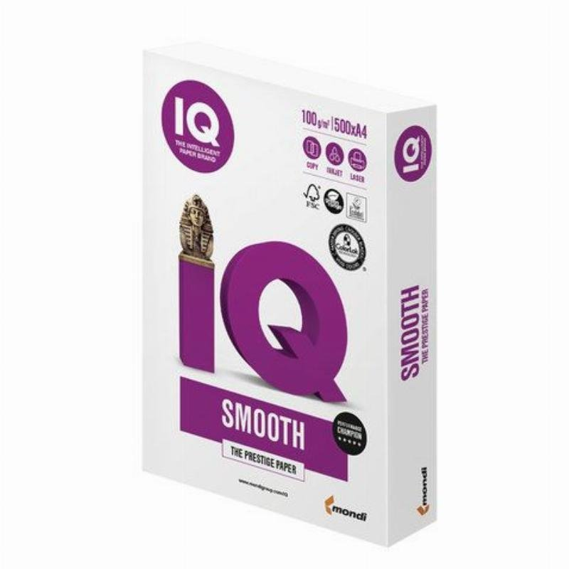 Бумага IQ Selection Smooth А4 100г/м 169% CIE 500л