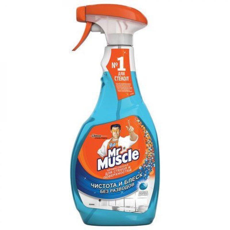 Средство для мытья стекол 500мл Mr Muscle После Дождя курок