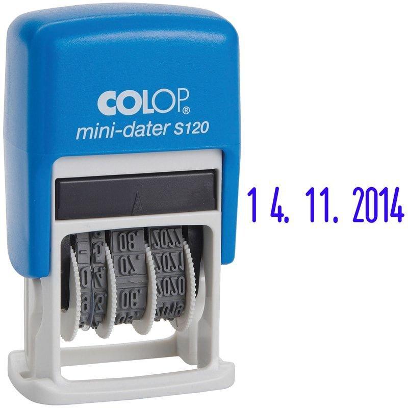 Датер Colop S120 1строка месяц цифрами оттиск 20х3,8мм