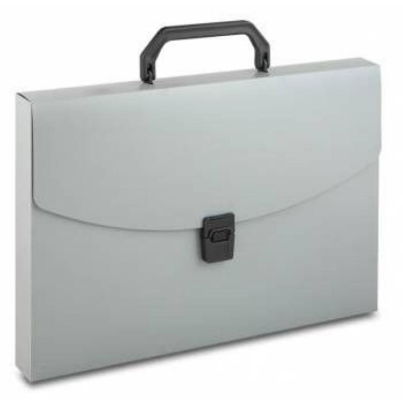Портфель пластиковый 1-отд Бюрократ А4 ассорти