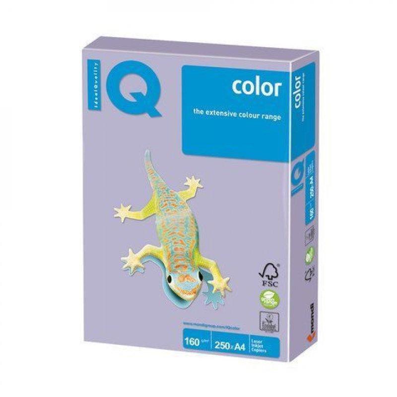 Бумага IQ/Maestro Color А4 160г/м2 250л бледно-лиловая