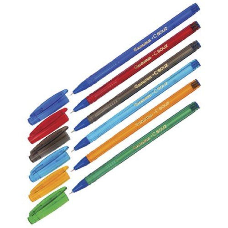 Ручка шариковая Союз Gamma 0,7мм тонированный корпус ассорти синяя