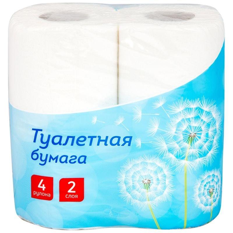 Бумага туалетная OfficeClean 2-сл белая с тиснением 4 шт/уп