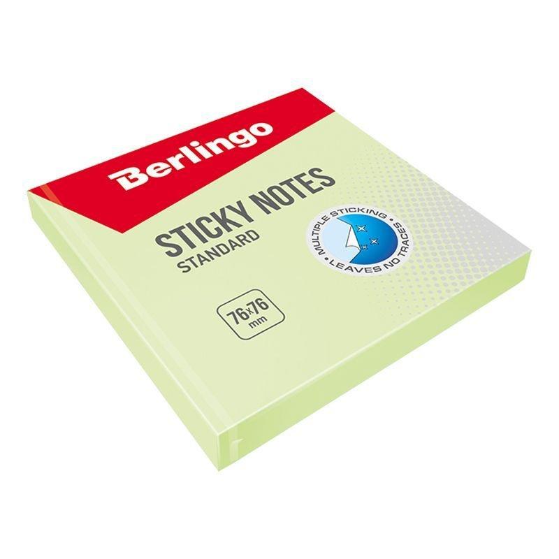 Блок для записей самоклеящийся 76х76мм Berlingo 100л пастель зеленый