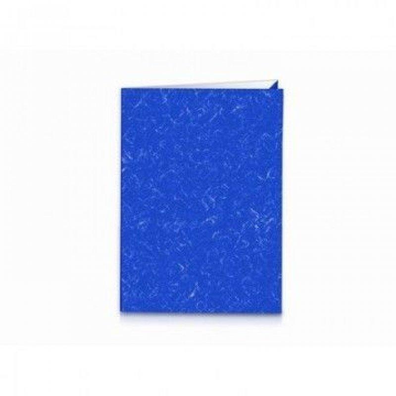 Папка-уголок А3/А4 Attache двойная картон мрамор синяя