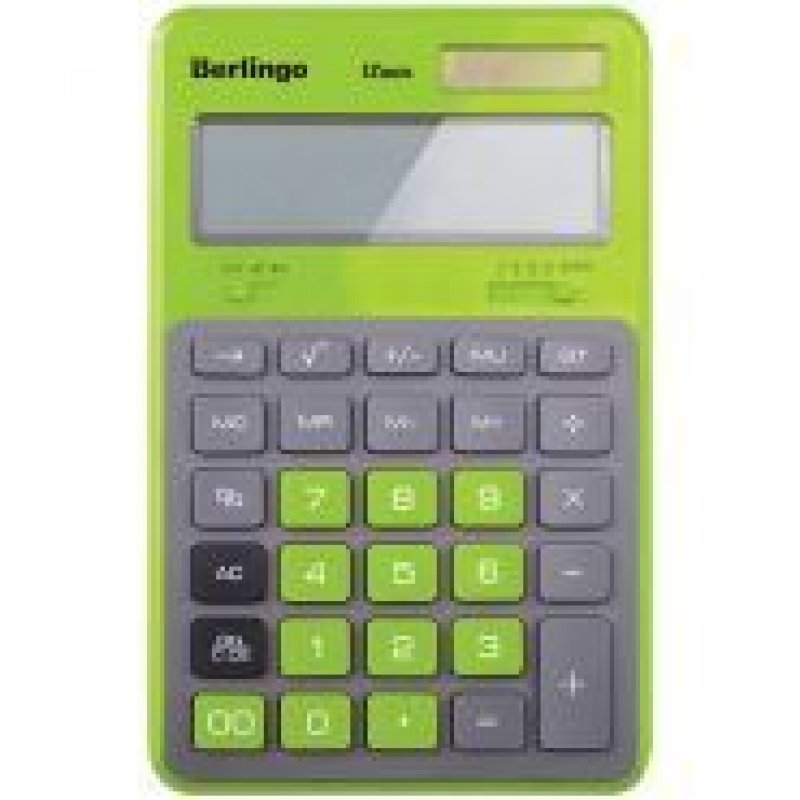 Калькулятор Berlingo Hyper 171х108мм 12 разр зеленый