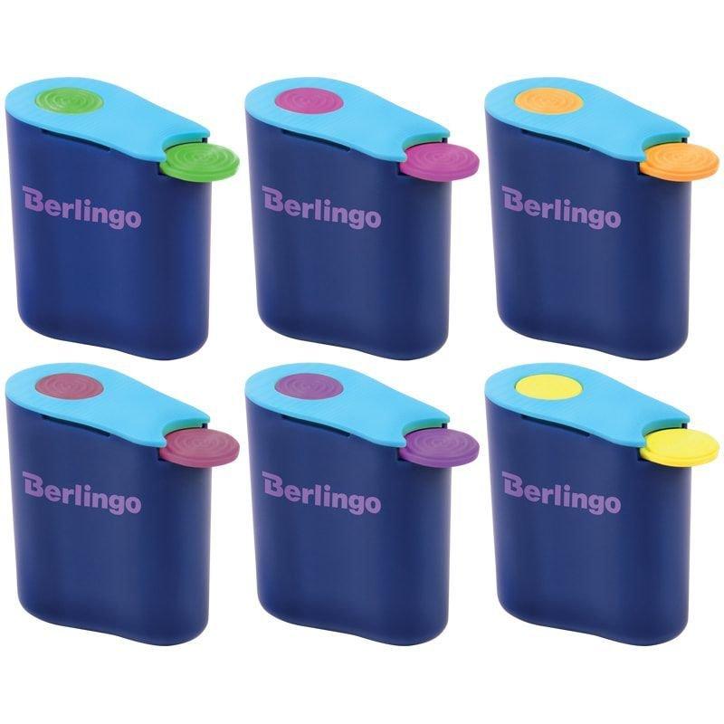 Точилка 1 отверстие Berlingo Hybrid с контейнером пластиковая ассорти