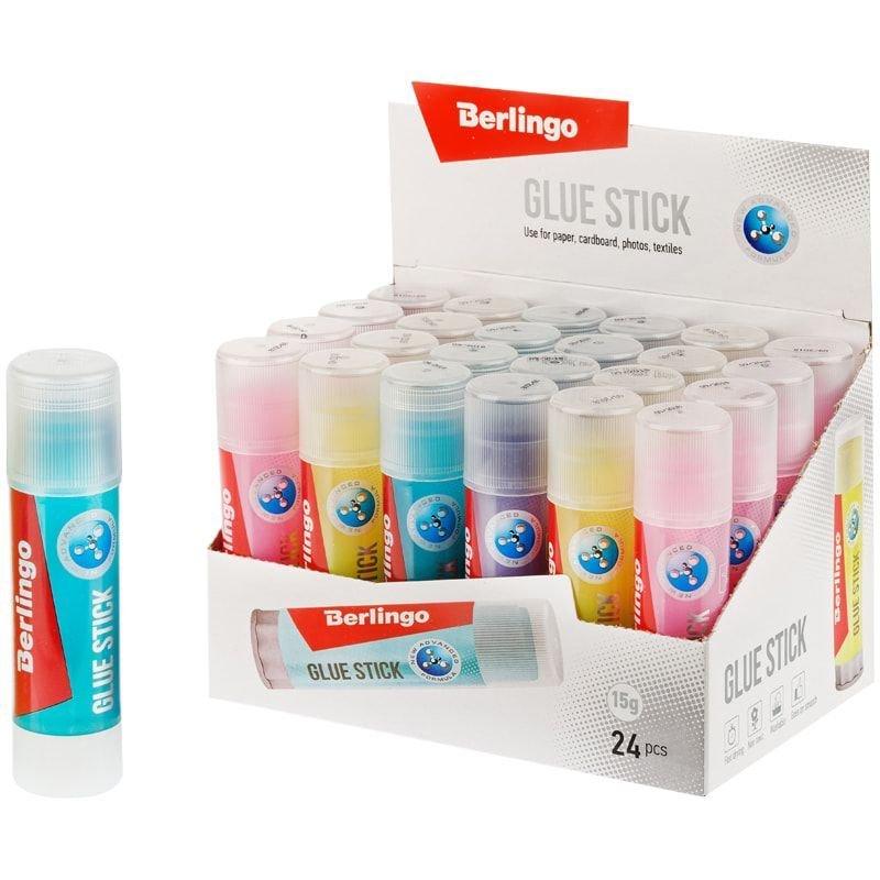 Клей-карандаш 15г Berlingo Aqua цветной