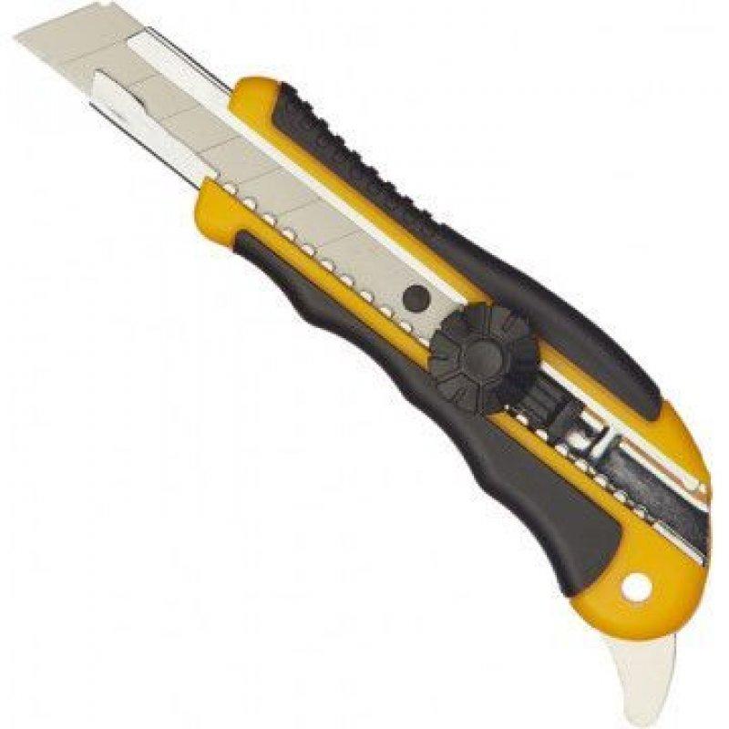 Нож канцелярский 18мм Attache Selection металл направляющие ролик фиксатор резин вставки