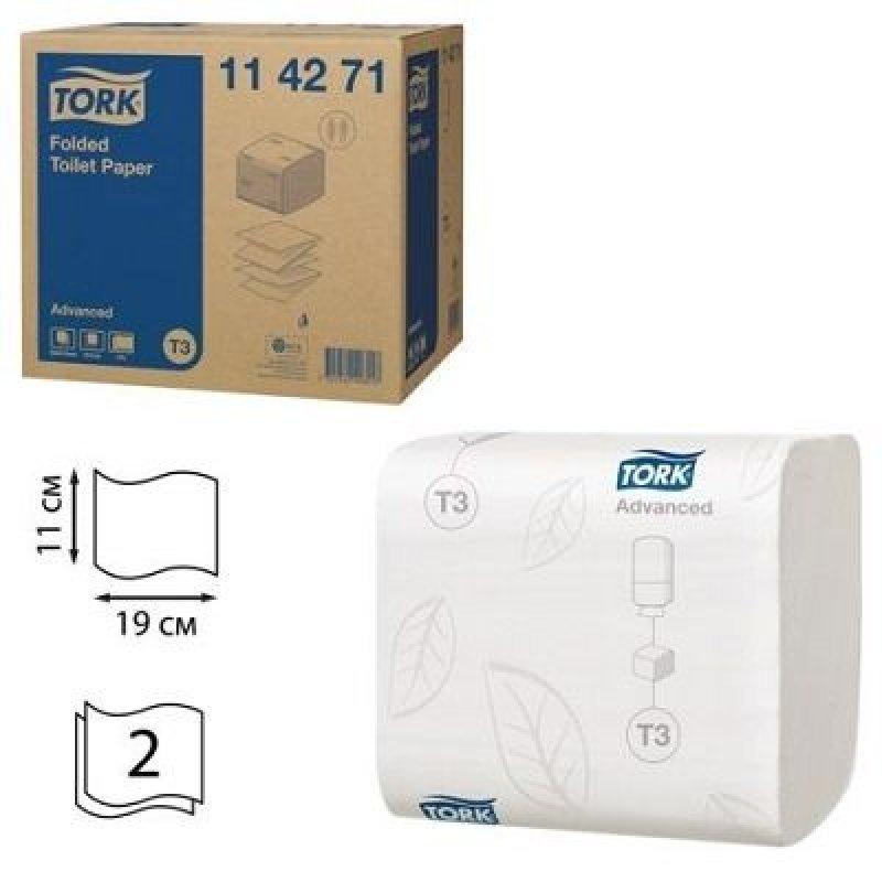 Бумага туалетная Tork Advanced 2-сл 11х19мм 242л