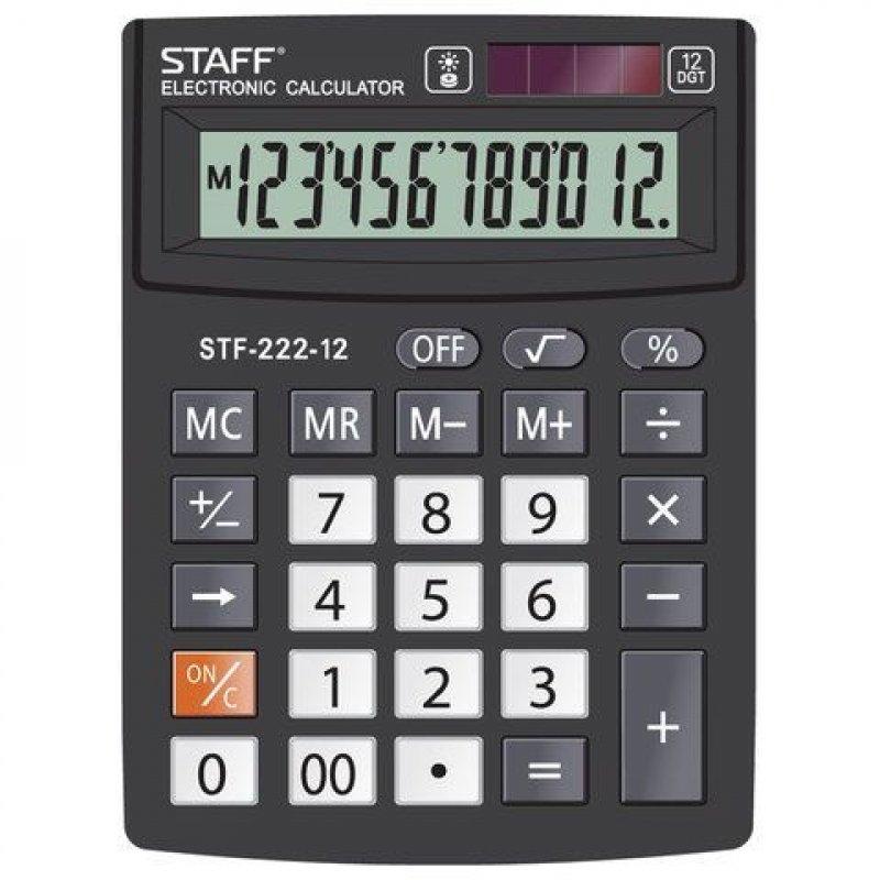Калькулятор STAFF STF-222 138x103мм 12 разр