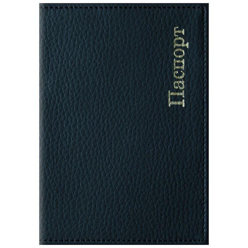 Обложка для паспорта OfficeSpace Комфорт кожзам черный