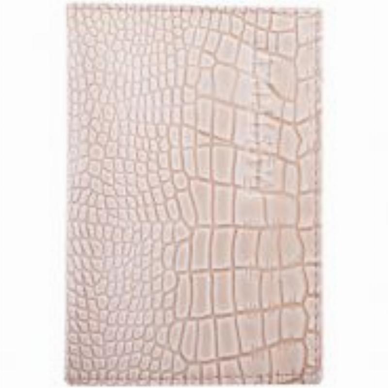 Обложка для паспорта OfficeSpace кожа бежевый крокодил лак