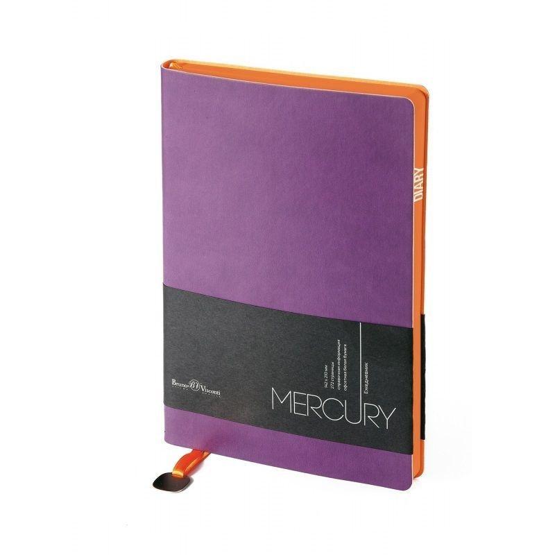 Ежедневник А5 недат Mercury фиолетовый