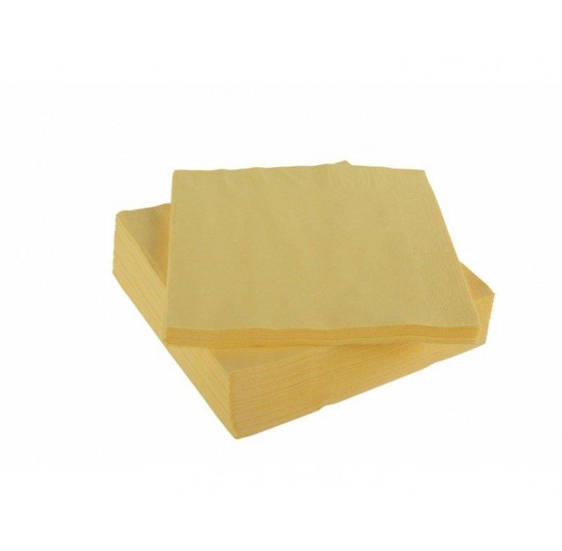 Салфетки 50л Almax Premium Collection 24х24см 2сл пастель желтая